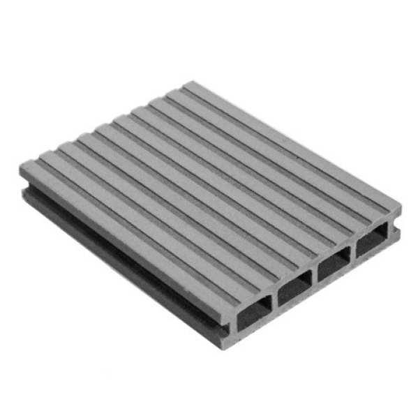 Доска террасная MasterDeck Classic Вельвет широкий/узкий серый 3000х140х26 мм