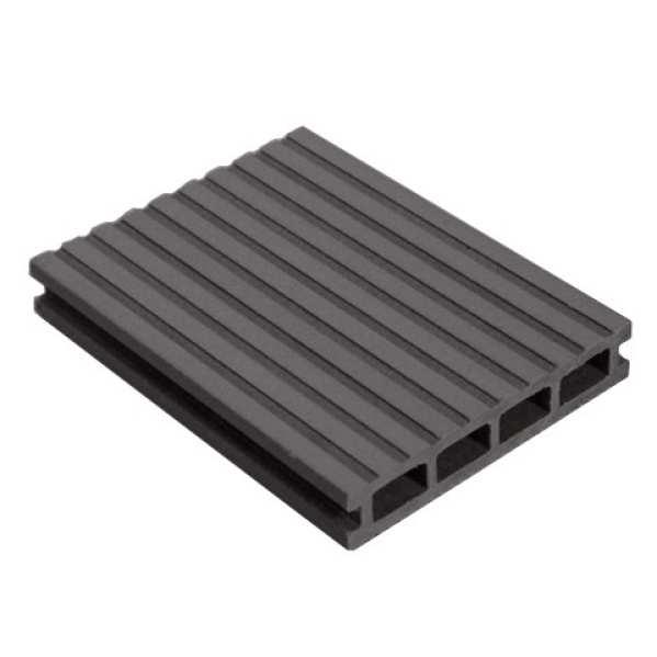 Доска террасная MasterDeck Classic Вельвет широкий/узкий Антрацит 3000х140х26 мм